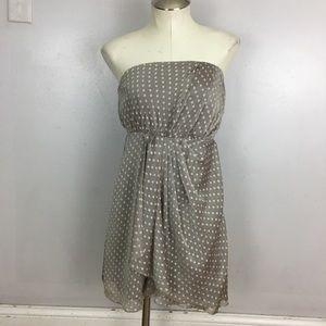 Express Cocktail Dress Sleeveless Polka Dot 0